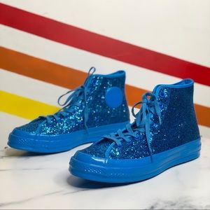 NEW Converse glitter high tops chuck taylors